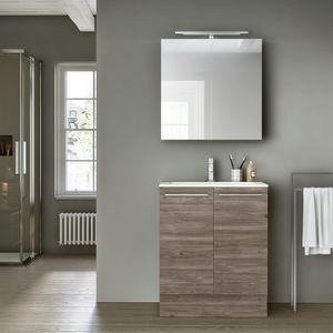 Change comp. 49, Mobile da bagno con specchio contenitore, per alberghi