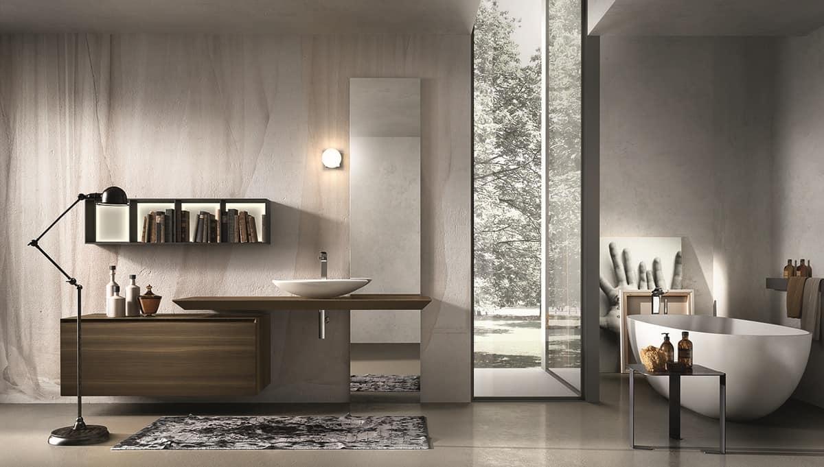 Mobili per bagno con lavabo e specchiera idfdesign - Immagini arredo bagno ...