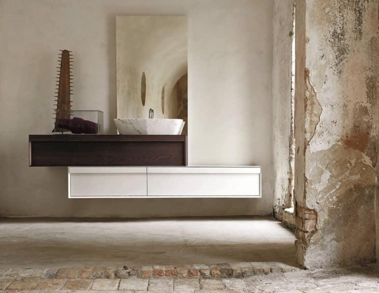 Lavandini Da Bagno Da Appoggio : Mobile da bagno con doppio cassettone lavabo da appoggio idfdesign