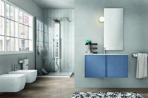 Arredamento per bagno vasca con libreria integrata for Mobili bagno trento