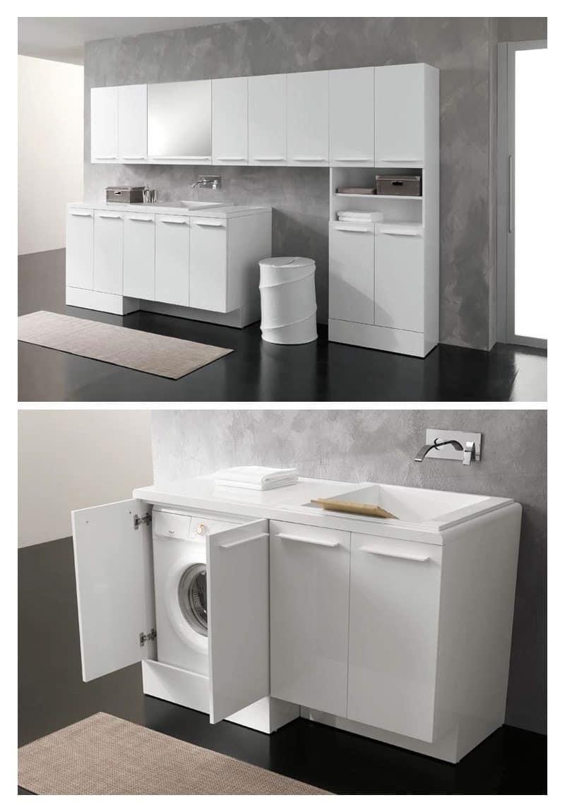 Soluzione compatta per lavanderia  IDFdesign