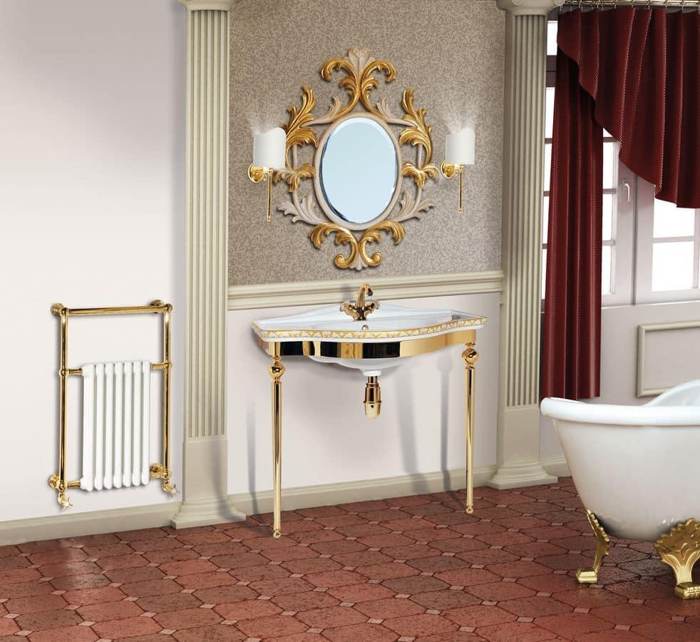 Perfect consolle da bagno della linea evo in laccato for Consolle da bagno