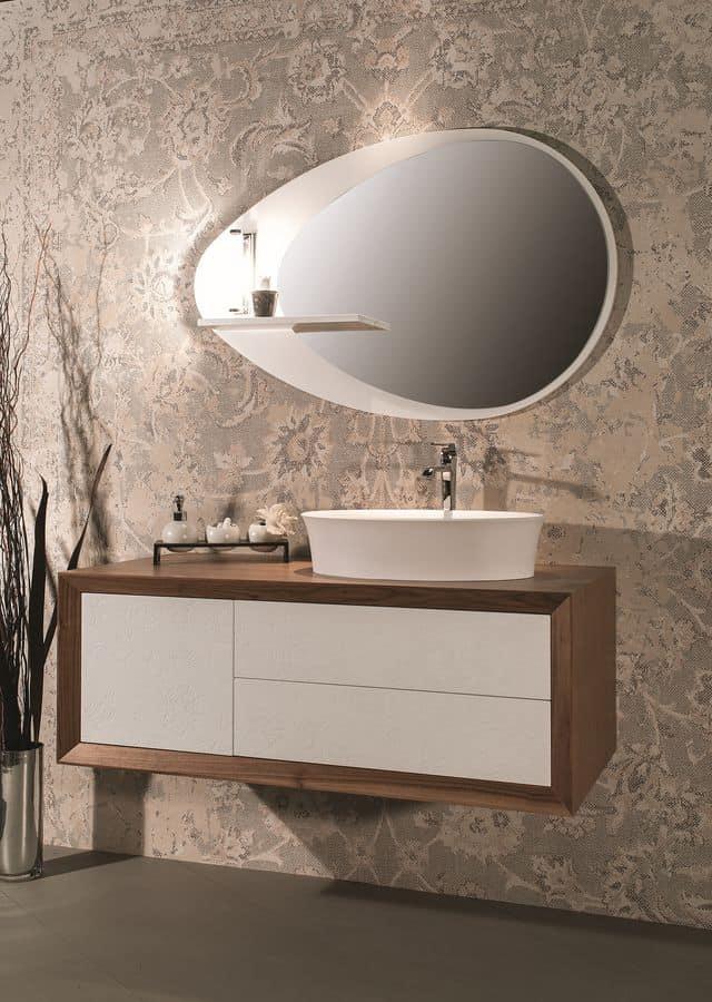 Contemporanea 1 composizione bagno con base sospesa per for Gaia arredo bagno