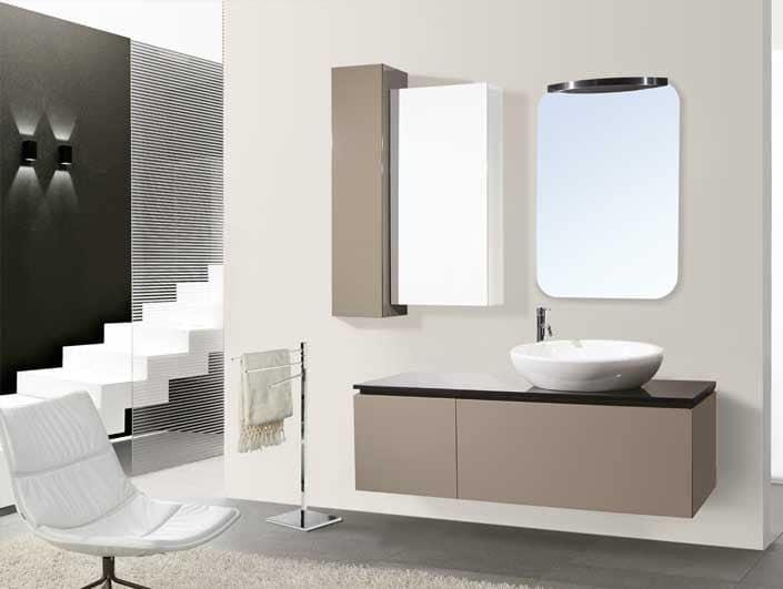Diadema arredo bagno moderno piano in siliconato nero lavabo da appoggio idfdesign - Bagno la bussola ...
