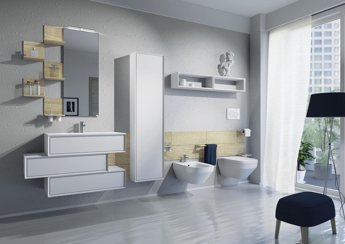 Mobili da bagno con lavabo zona water e bidet idfdesign - Bagno design srl curtarolo ...