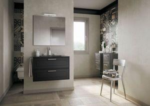 Dressy comp.03, Elegante mobile da bagno con cassetti