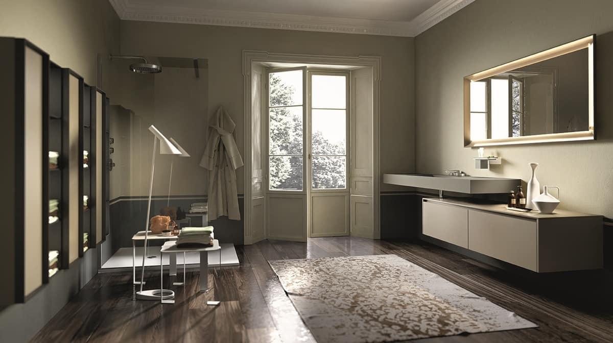 Consolle da bagno in porcellana laminata idfdesign - Mobili bagno particolari ...