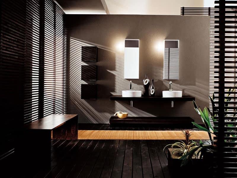 Facto evolution 11 mobili contenitori per bagno bagno for Arredo bagno marrone