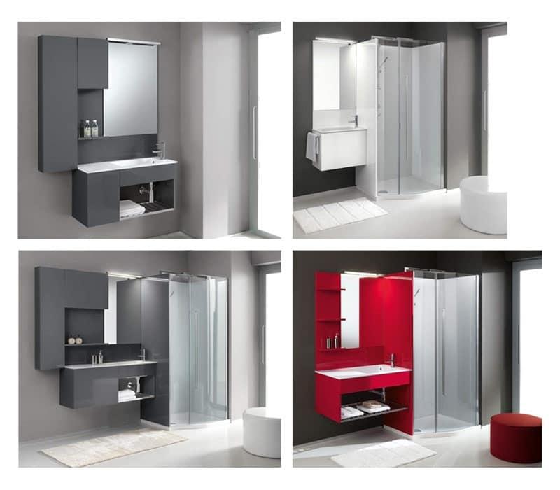 Set con lavandino toilette idfdesign for Geromin flexia