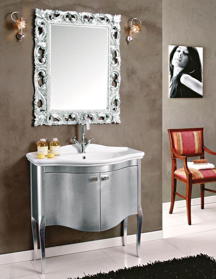 Gilda comp 2 composizione bagno con lavabo e specchiera - Composizione bagno moderno ...