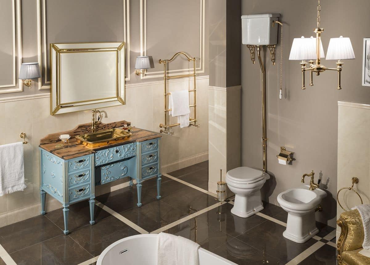 Impero 1 arredo bagno baroque con base in legno massello - Gaia arredo bagno ...