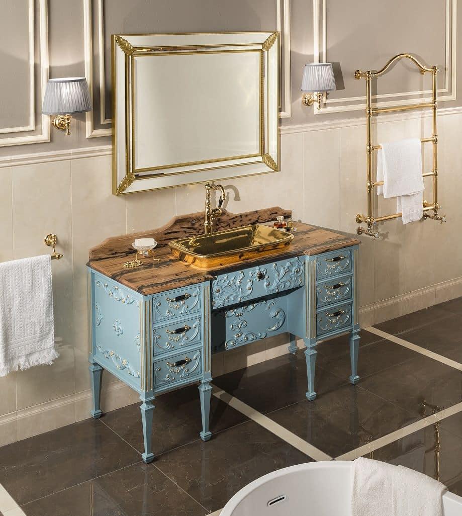 Impero 1 arredo bagno baroque con base in legno massello - Bagno stile impero ...