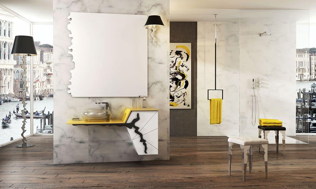 Isido 2 arredo bagno moderno mobili bagno idfdesign for Stipetto bagno