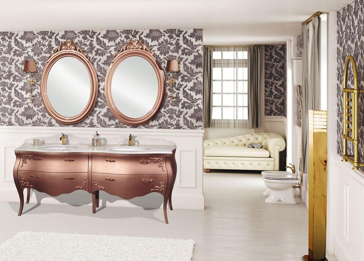 Kos arredo bagno classico doppio lavabo fregi for Kos arredo bagno
