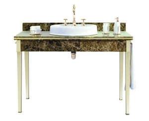 Lancaster Console 1200 x 600, Console in marmo con lavabo singolo