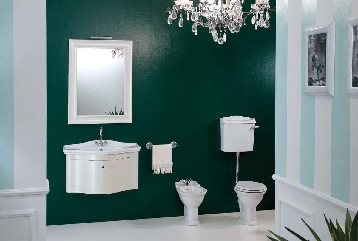 Libra arredo bagno con base sospesa laccata madreperla - Gaia arredo bagno ...