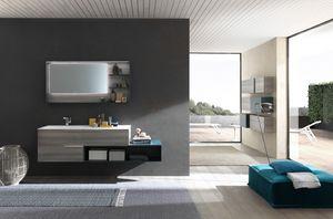 Lime Ø comp.46, Elegante mobile per bagno, dal design minimale