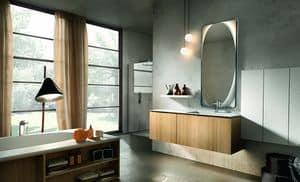 Maia 303, Mobile da bagno realizzato in legno e marmo