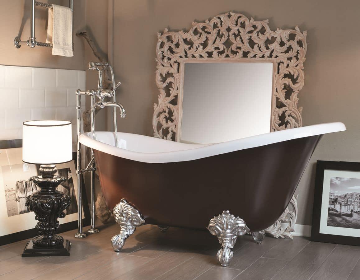 Margot vasca baroccada bagno in ghisa con interno - Gaia arredo bagno ...