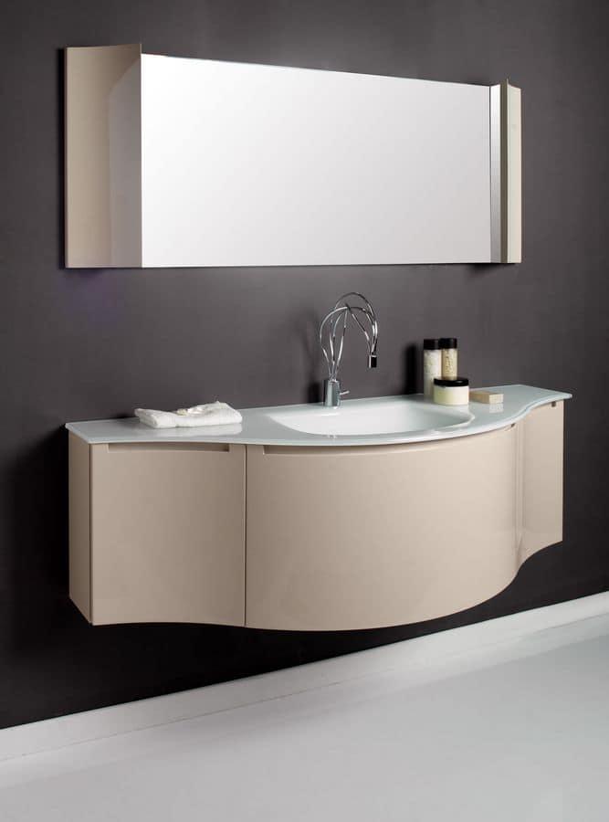 Arredo bagno con mobile bagno e specchiera idfdesign - Specchiera bagno amazon ...