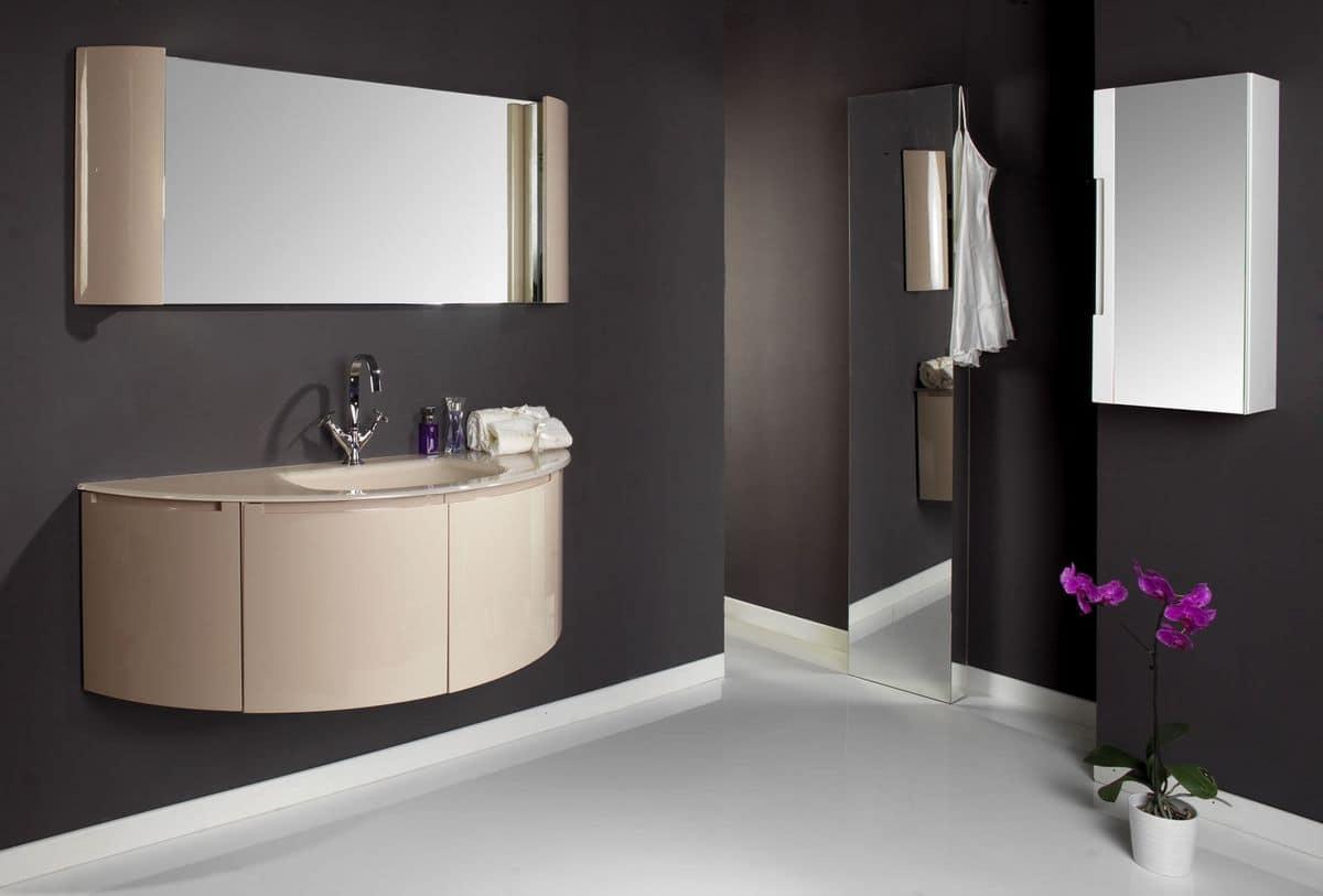 Modular comp 3 composizione bagno con mobile bagno e - Composizione bagno moderno ...