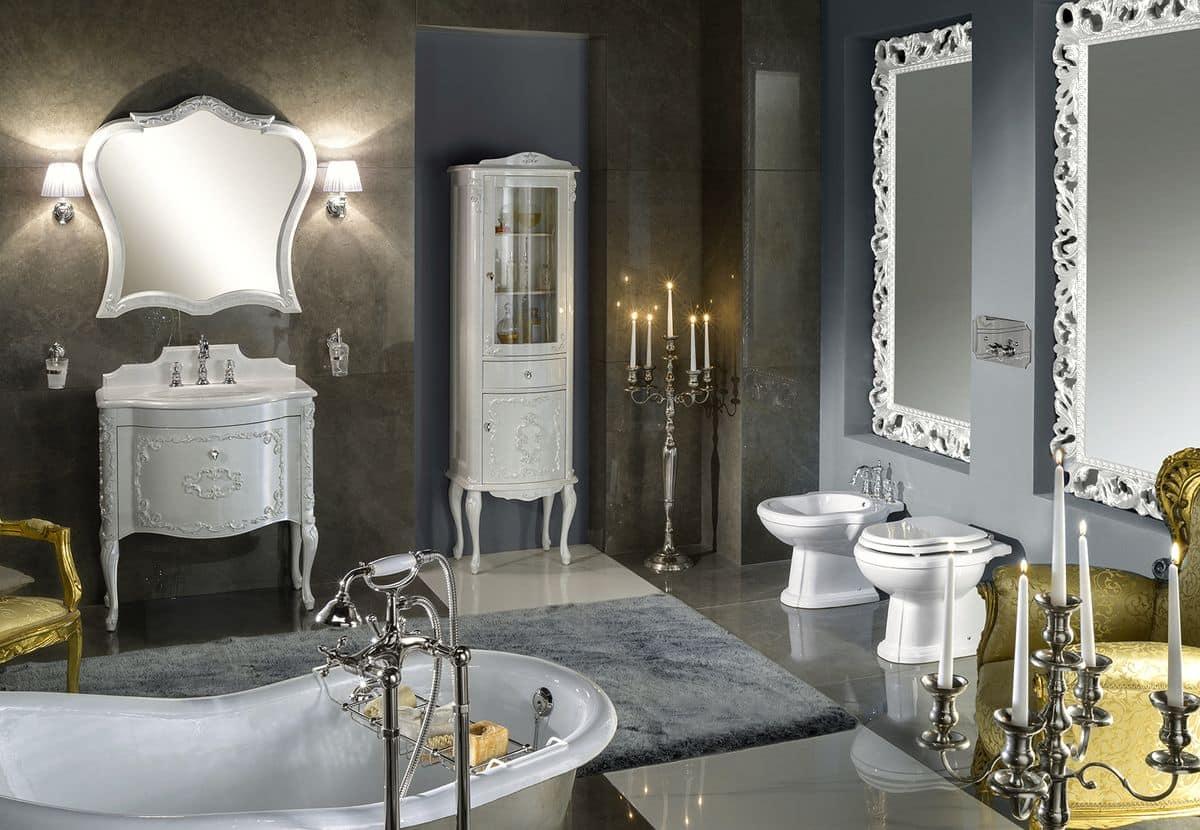 Murano 1 arredo bagno con base per lavabo laccata for Gaia arredo bagno