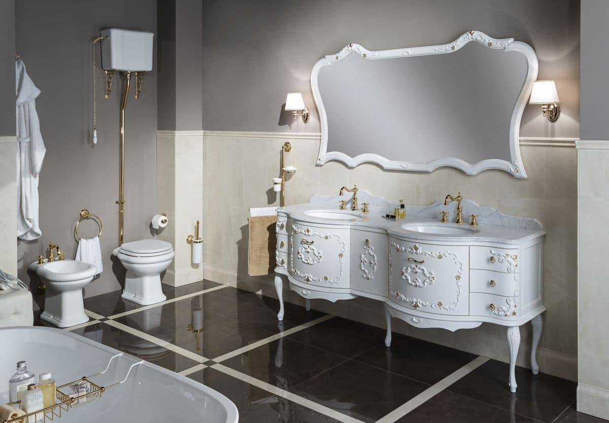 Murano 3 arredo bagno con base laccata doppio lavabo - Mobili bagno immagini ...