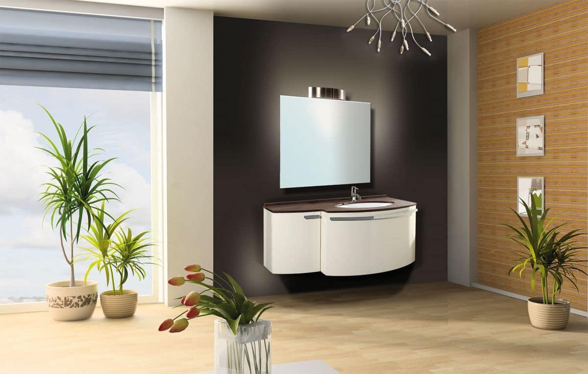 Mykonos mobile per bagni moderni piano in quarzo cassetto automatico idfdesign - Bagno la bussola ...