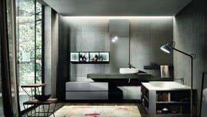 Nike 328, Arredamento per bagno, vasca con libreria integrata
