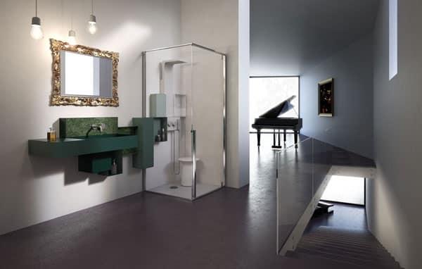 Soffione doccia lavabo mensole gruppo miscelatore osmos - Mensole arredo bagno ...