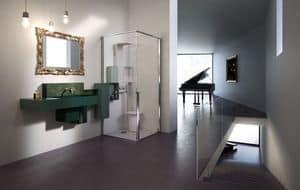 OSMOS, Soffione doccia, lavabo, mensole, gruppo miscelatore bagno, hotel, spa