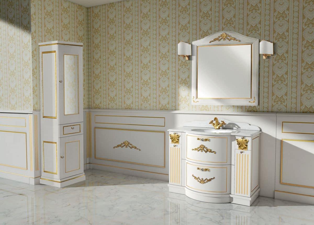 Paestum arredo bagno classico finiture foglia for Arredo bagno classico immagini