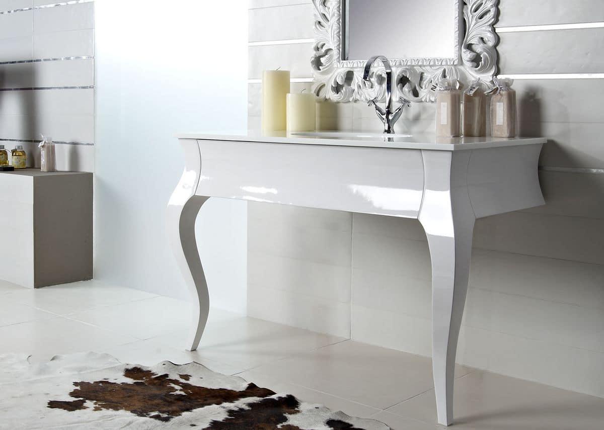 Mobile Bagno Bianco E Argento – PasIOnwE