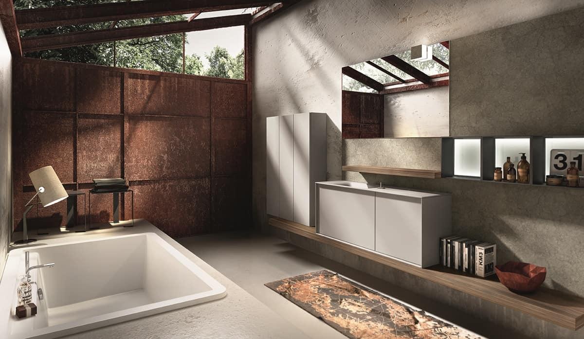 Vasca Da Bagno Con Rubinetteria Integrata : Vasca da bagno con doccia vasca e doccia combinate bagnoidea