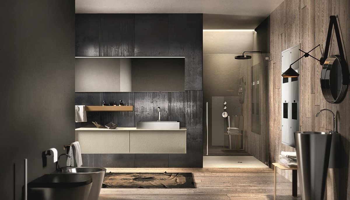 mobili wenge per bagno elegante : HOME P06 Bagno Prodotti Bagno Sanitari Mobili bagno Design Moderno