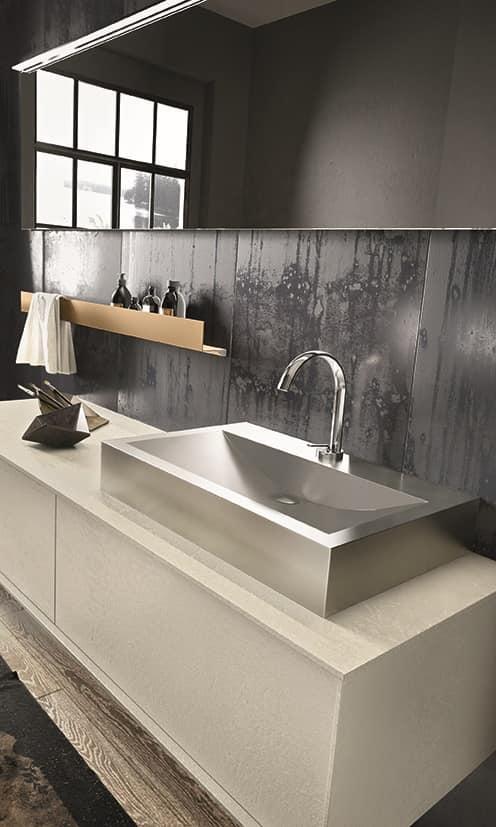 Mobili per bagno stile minimale ed elegante idfdesign - Mobili bagno in stile ...