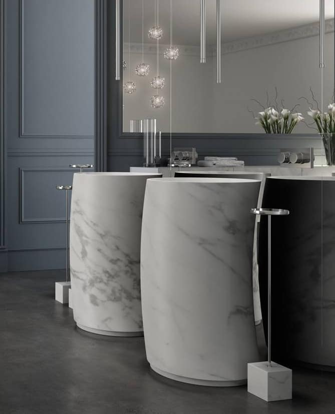 Lavabo in marmo di carrara idfdesign for Marmo arredo spa