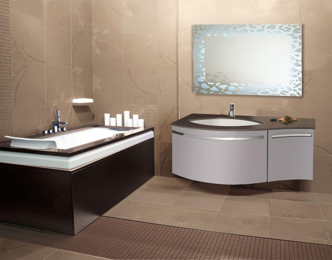 Rodi mobile per bagni moderni specchio retroilluminato led cassetto automatico - Bagno la bussola ...