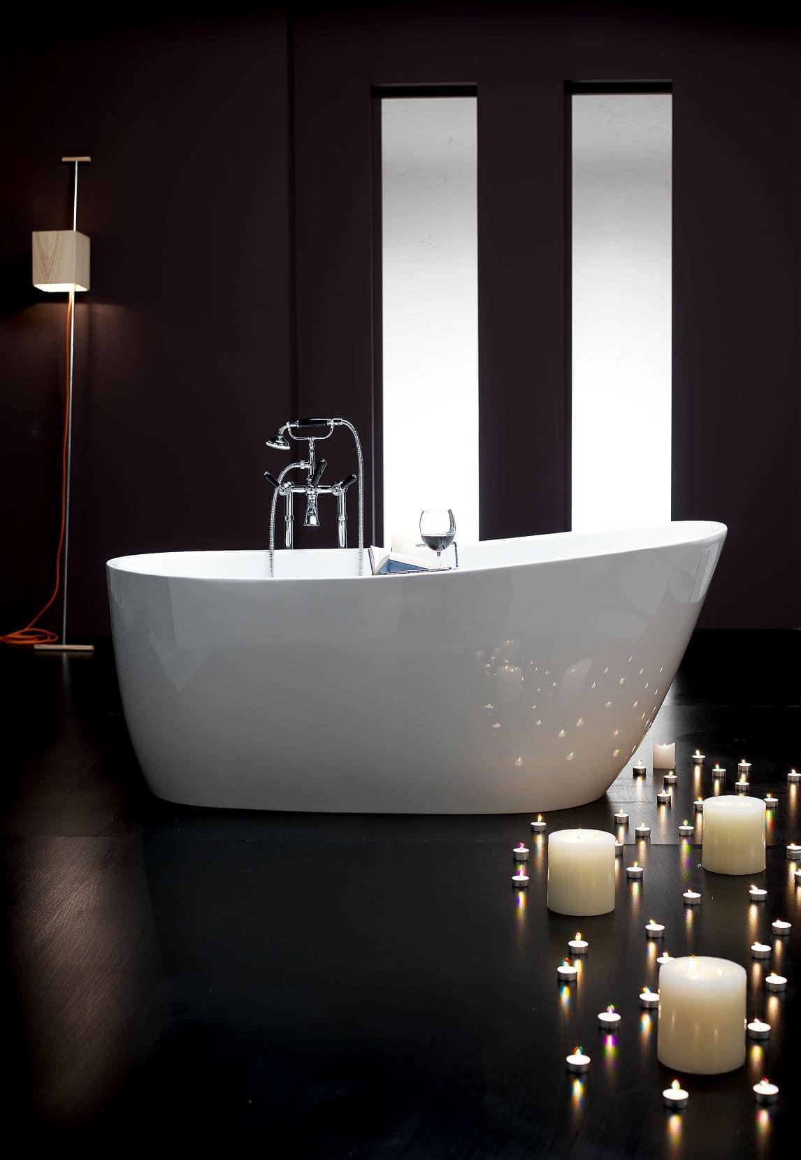 Rolls Royce, Vasca da bagno in acrilico, interno ed esterno bianco ...