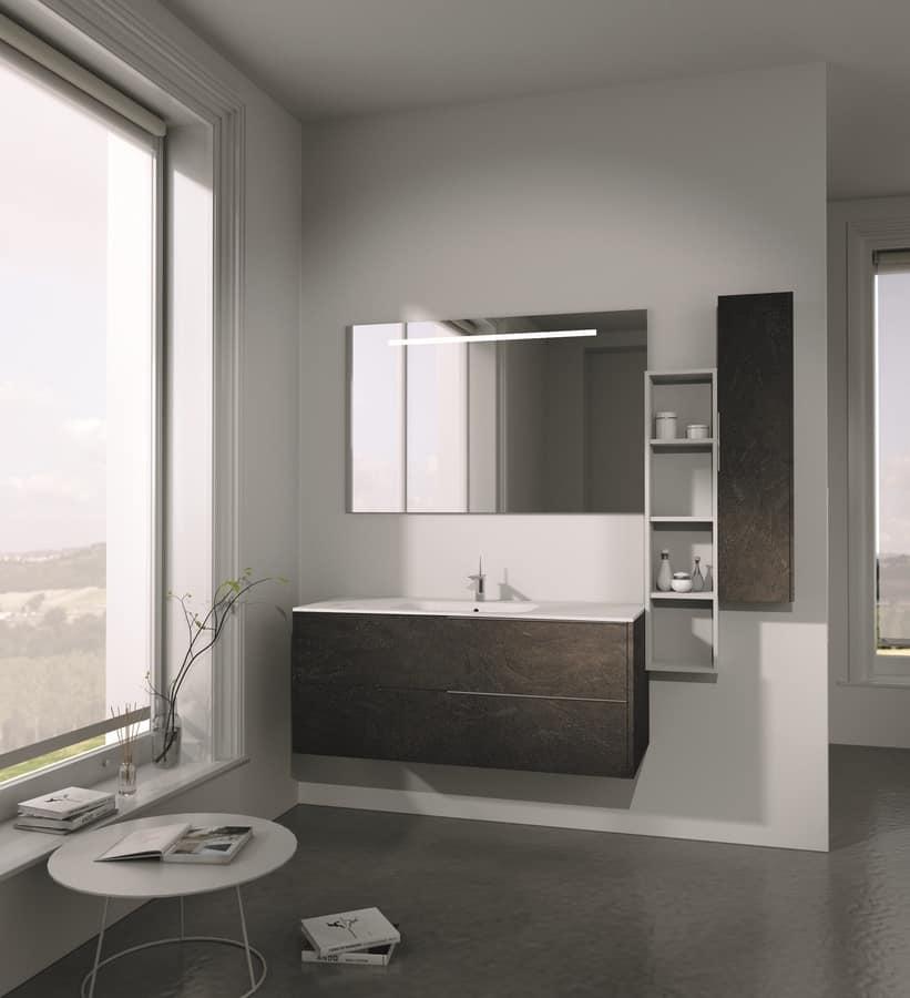 Arredamento da bagno dalle linee semplici idfdesign for Arredamenti da bagno