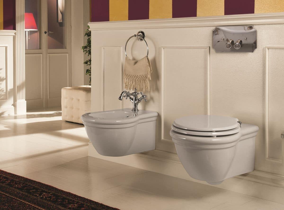 Richmond composizione arredo bagno con vaso sospeso con for Gaia arredo bagno