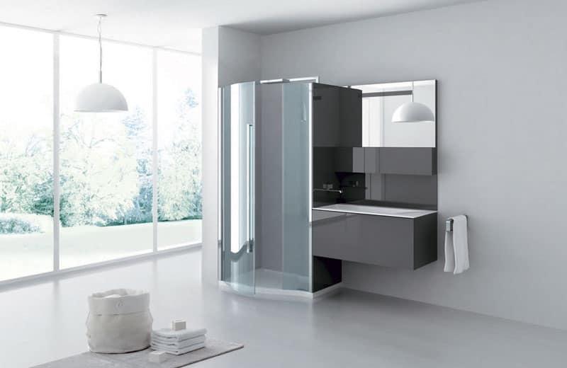 Box doccia minimale centro benessere idfdesign - Cabine de douche avec musique ...