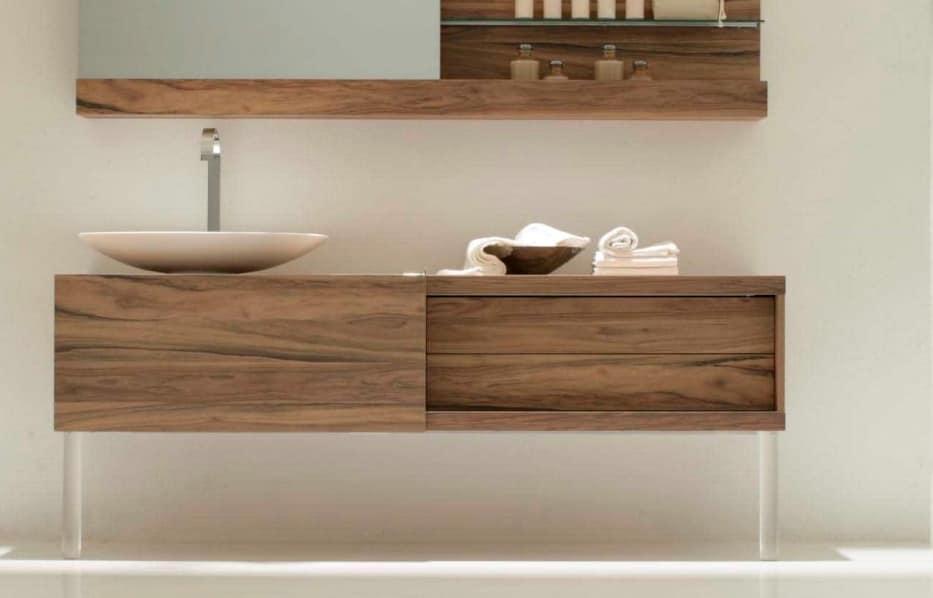 Base monoblocco per bagno con anta scorrevole idfdesign