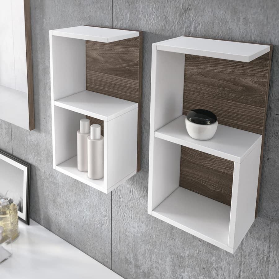 Elegante mobile da bagno con moduli a giorno idfdesign for Elementi bagno