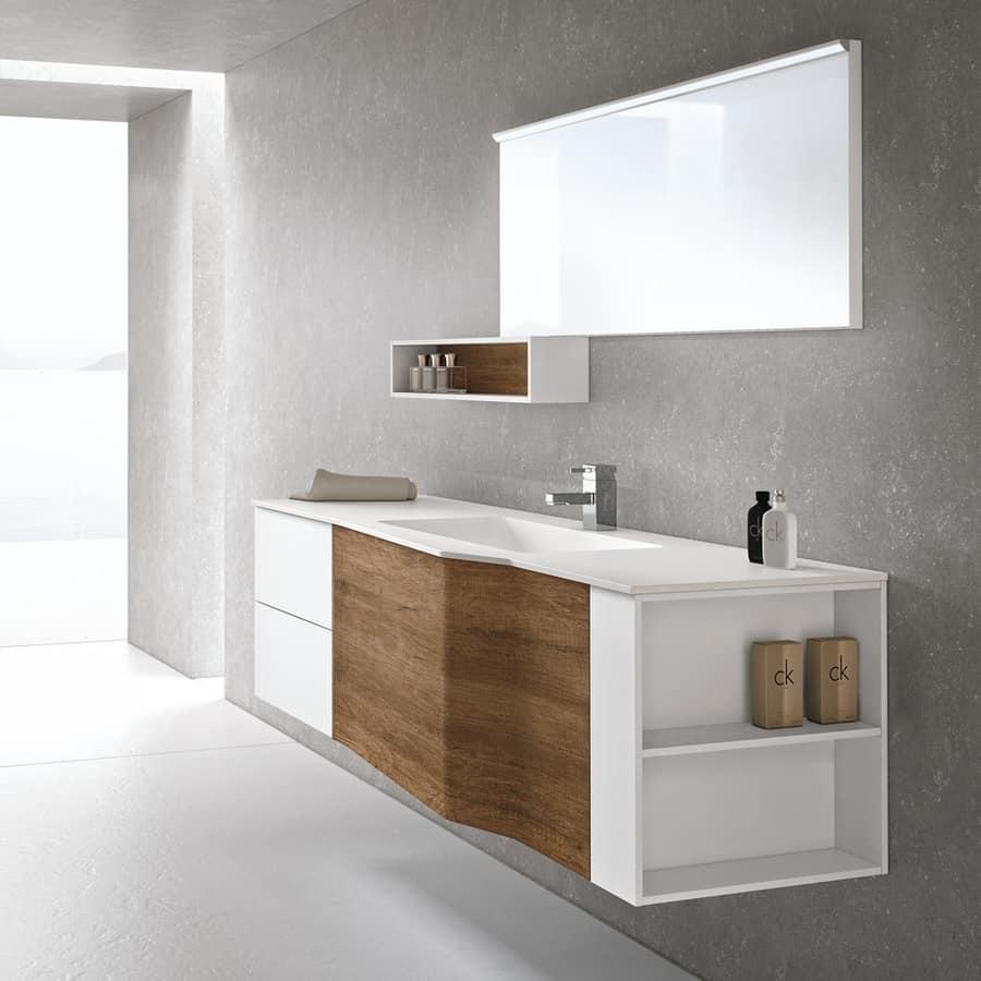 Mobile bagno sospeso con chiusure ammortizzate idfdesign for Mobili x il bagno