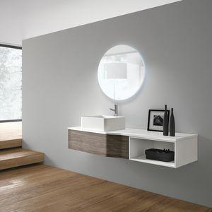 STR8 comp. 10, Mobile da bagno, moderno, con lavabo in ceramica