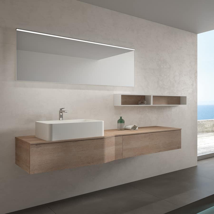 Mobile da bagno moderno in melaminico e ceramica idfdesign - Ceramica bagno moderno ...