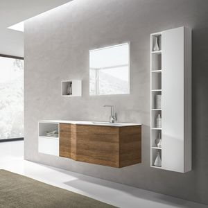 STR8 comp. 13, Mobile da bagno con vasca integrata nel piano