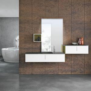 STR8 comp. 21, Mobile bagno in materiale composito e legno laccato
