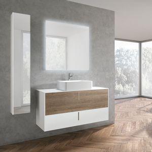 STR8 comp. 22, Mobile da bagno in stile minimale, con maniglia verticale